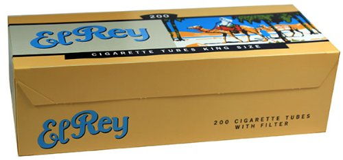 El Rey Blue/Light RYO Cigarette Tubes - King Size 200ct Box (50 Boxes) by El Rey