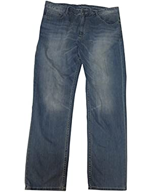 Calvin Klein Men's Silver Bullet Jeans, Size 38x32, Slim Straight, Blue Denim