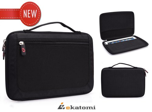 [Sylvia] BLACK | Universal 9-inch Tablet Case Semi-Hard Carrying Bag for Samsung Galaxy Note 8.0 N5110. Bonus Ekatomi Screen Cleaner