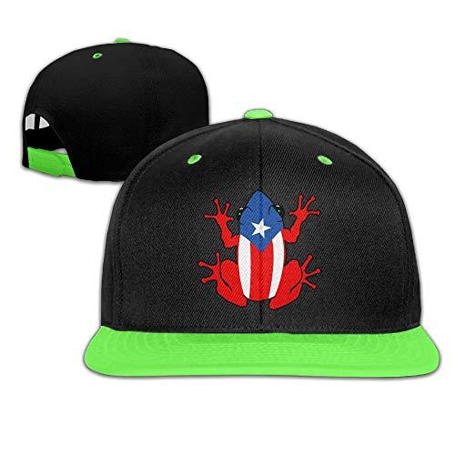 Xu Li Piang Hip-Hop Trucker Caps Boy and Girl Puerto Rico Frog Mesh Baseball Hat