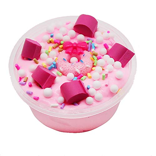 Redvive Top New Candy Donut Cotton Mud Puff Slime Putty Scented Stress Kids Clay Toy 60ml