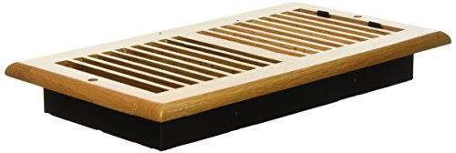 Wood Floor Register - Decor Grates WL612W-N 6-Inch by 12-Inch Wood Wall Register, Natural Oak