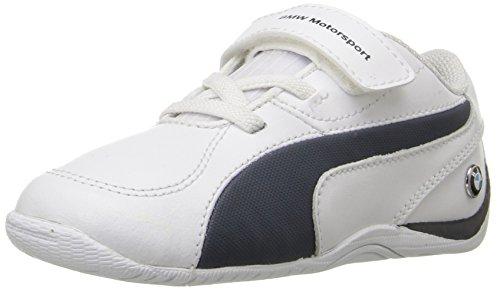 Puma Drift Cat 5 L BMW Nu V Kids Sneaker (Toddler/Little Kid/Big Kid) Puma White/Team Blue