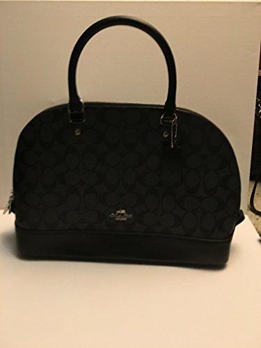 Coach F58295 Mini Sierra Signature PVC Satchel Crossbody Bag Black Smoke/Black by COACH