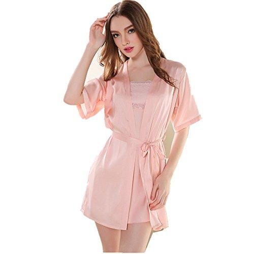 Seta sexy da Raso design Indumenti signora Cavo notte da per notte Indumenti Pink da notte Donne Fox Camicia Rainbow XvqAPP