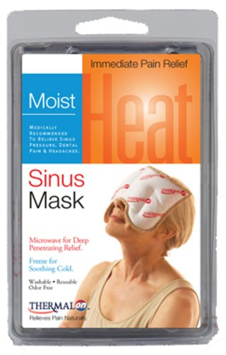 "Thermalon Microwave Activated Moist Heat-Cold Sinus Mask for Sinus Pressure, Headaches, TMJ, 5.5"" X 8"""