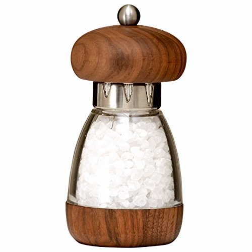 Mushroom Salt Mill - William Bounds 00182 Mushroom Mill - Salt Grinder - American Black Walnut Wood and Acrylic
