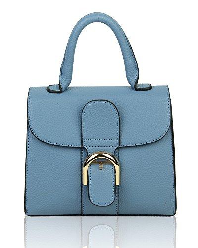 Vintage Shoulder Satchel Tiny Blue Ladies Handbag Classic Bag XAw7E57