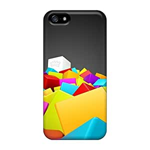 High Quality 3d Colorful Squares Cases For Iphone 5/5s / Perfect Cases