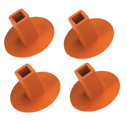 Markwort 4 Pack Ground Receptacle Plugs (Orange) PLUG4O