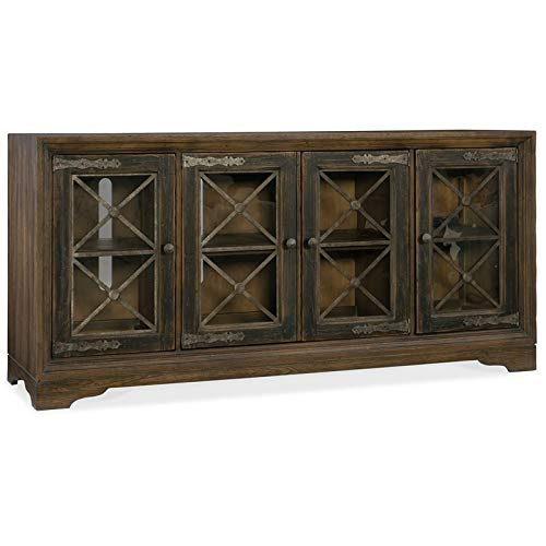 Hooker Furniture Hill Country Pipe Creek Bunching Media Console - Hooker Furniture Console