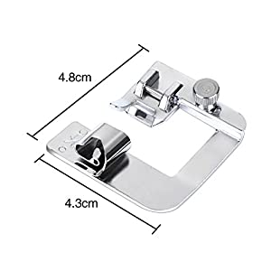 BBTO 3 Sizes Rolled Hem Pressure Foot Sewing Machine Presser Foot Hemmer Foot Set (1/2 Inch, 3/4 Inch, 1 Inch) Fit For Most Low Shank Sewing Machines from BBTO