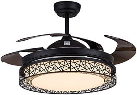 TangMengYun Hogar Ventilador Techo Nido de pájaro Moderno Ventilador de Techo Plegable Negro Accesorios de Luces Hoja Invisible Led Lámpara de Ventilador de Techo Control Remoto: Amazon.es: Hogar