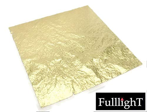 "Thai tradition gold leaf sheet, 10 Pcs. selected grade 999/1000, 24 karat 1.5"" x 1.5"" Arts & Crafts, Decoration, Metal working, Beauty & Spa, Foods & Bakery decoration & Adhesive for gold leaf (FL01)"