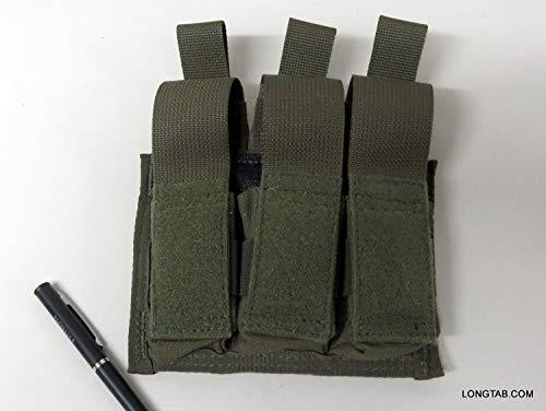 (Diamondback Tactical BATTLELAB Pistol MAG Pouches with DETLOC, Triple 9MM)