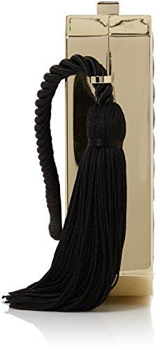 Love Moschino Borsa Nappa Pu Trapuntata Nero - Borse Baguette Donna, Schwarz (Black), 15x12x5 cm (B x H T)