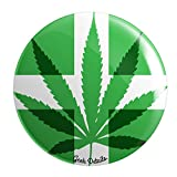 """Geek Details Cannabis Themed 2.25"""" Pinback Button (Medical Marijuana)"""