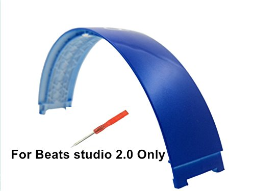 Replacement Top Headband Pad Cushions Repair Parts for Beats Studio 2.0 Wired / Wireless Over Ear Headphone Blue