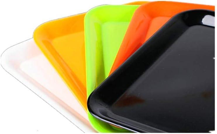 BSTLY bandeja de plástico rectangular placa cuadrada melamina vajilla hotel hotel pan snack vino final placa negro 32.5 * 25.3 * 2.1