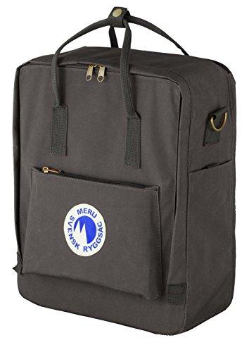 5253440857a4 Meru Swedish Backpack (Svensk Ryggsac) Small Daypack Waterproof Bag Pack -  Unisex (Graphite