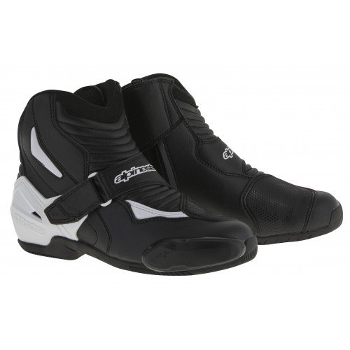 - Alpinestars SMX-1R Men's Street Motorcycle Boots - Black/White / 47