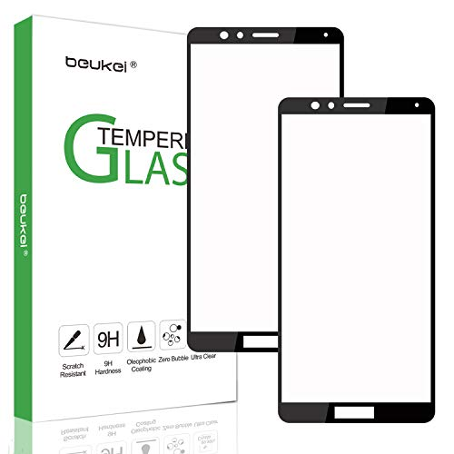 [2-Pack] Beukei for Huawei Mate SE [Tempered Glass] Screen Protector [ Glass with 9H Hardness] for Huawei Mate SE with Lifetime Replacement Warranty