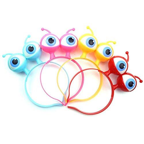 (ZEROYOYO Funny Halloween Glowing Alien Eyes Headpiece for Kids Headband Hair Hoop Costume Party Props Random)