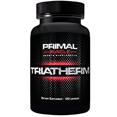Primal Muscle TriaTherm Thermogenic Fat Burner – Appetite Suppressant Weight Loss Pill for Men – Natural Diet Energy Supplement with 5 HTP & Forskolin – 120 Capsules