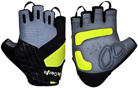Cycle Glove Half Finger Grip Padded Palm Fingerless Sports Cycling Biking Gloves