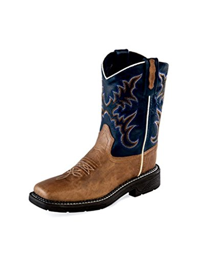 Old West Kids Boots Unisex Square Toe Work Sole Boot (Tod...