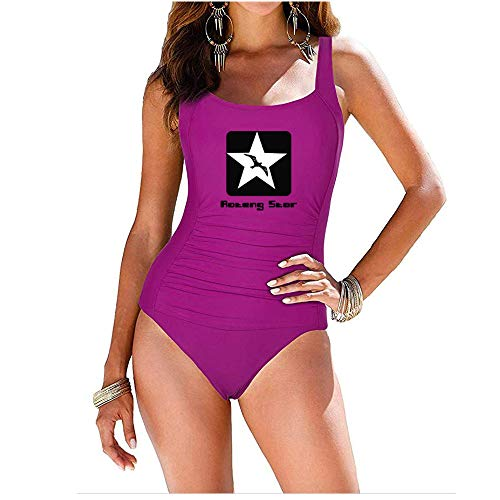 AOTENG STAR Women's Shirred One Piece Swimsuit Tank Bathing Suits Tummy Control Monokinis