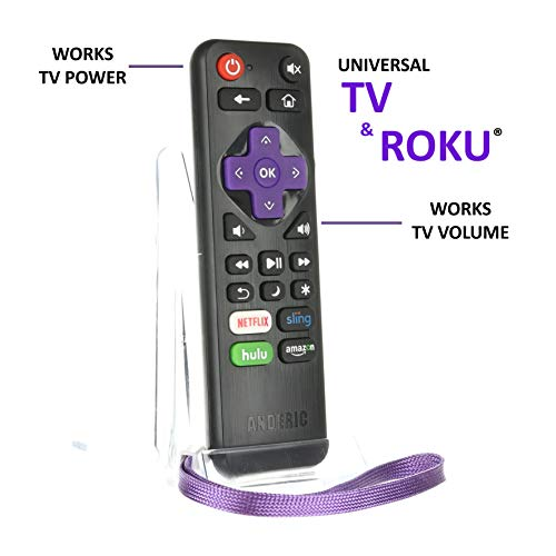 press Remote with Volume Roku/TV Streaming 2-in-1 Remote Control with Learning - Works for Roku + TV with Volume/Power Keys for TVs & Roku TVs [NOT for ROKU Sticks] (Electronic Volume Control)