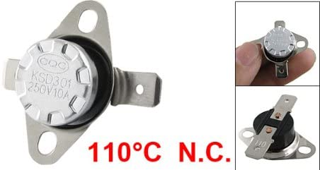 sourcing map KSD301 110 Celsius Temperature Control Switch Thermostat N.C.