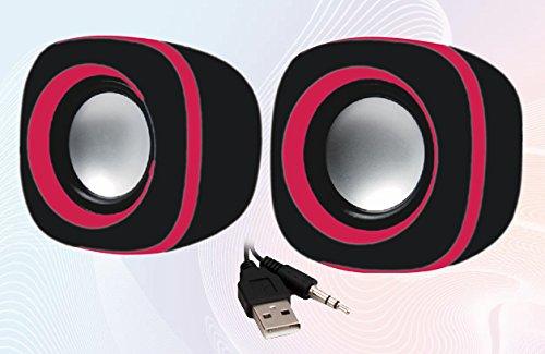 Quantum QHM 602 USB Mini Speaker  Black   Red