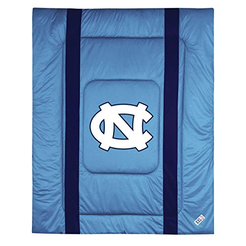Twin Bed Sideline Comforter - Sports Coverage North Carolina Tar Heels Sideline Comforter - Twin Bed