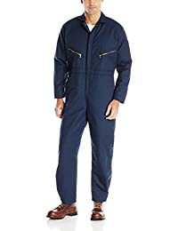 Red Kap Mens Insulated Twill Coverall Quilted Lining, Long Sleeve
