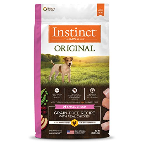 Instinct Original Small Breed Grain Free Recipe with Real Chicken Natural Dry Dog Food by Nature's Variety, 4 lb. - Original Rabbit Food