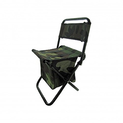 Camouflage Foldable Camping Stool Chair with Zippered Gear Pouch - Youth Size by Camouimport