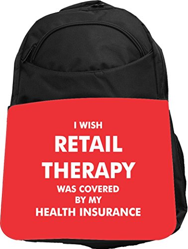 Rikki Knight UKBK Retail Therapy Insurance Tech BackPack - Padded for Laptops & Tablets Ideal for School or College Bag BackPack