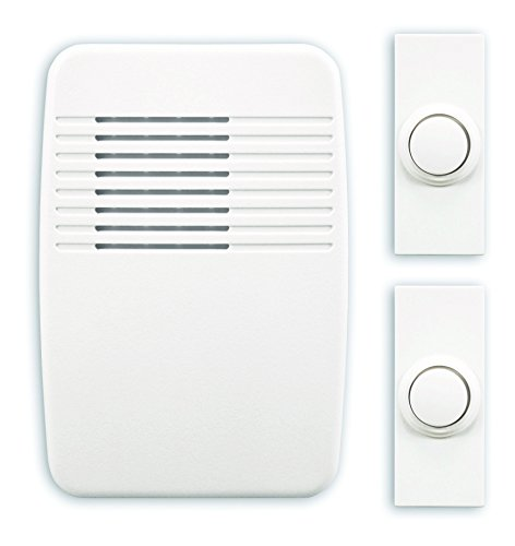 Heath/Zenith SL-6167-C Heathco Sl-7367-02 Plug-In Wireless Doorbell Kit, 3 Tones, Plastic, 5-1/8 In H X 3-1/2 In W X 1-3/8 In D, White