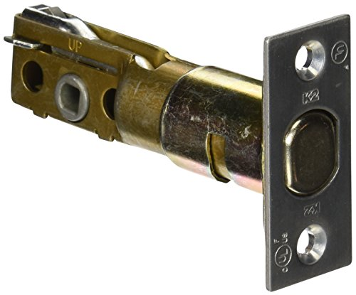 Stanley Commercial Hardware Key Control Adjustable Latch for QDB200 Series Auxiliary Deadbolts, Square Corner, Satin Chrome Finish ()
