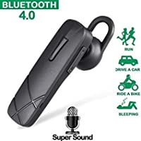 Stealkart Bluetooth Handset Compatible for Oppo, Vivo, Samsung, Motorola, Xiaomi, Mi, LG, Huawei, Gionee, ASUS, Panasonic, Micromax, and Many More. Bluetooth Headset with Mic