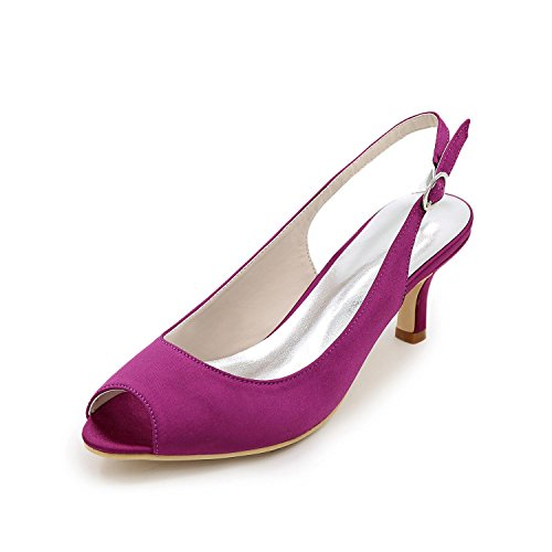 YC Satin Spring Women's Wedding High Purple Summer Satin Stretch Heels L Stiletto Heel qACdnwq