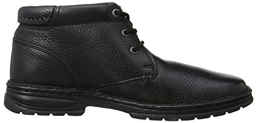 Hush Puppies Nash Theron Mens Lace Up Ankle Boots Black Leather DyWpQi