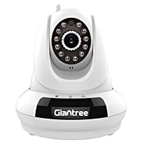 Giantree 720P Wireless IP Camera, Baby/Pets Monitor, WiFi Security Surveillance Camera, White