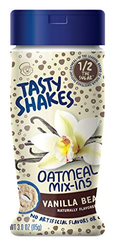 Tasty Shakes Oatmeal Mix-ins, Vanilla Bean, 3 Ounce (Pack of 6)