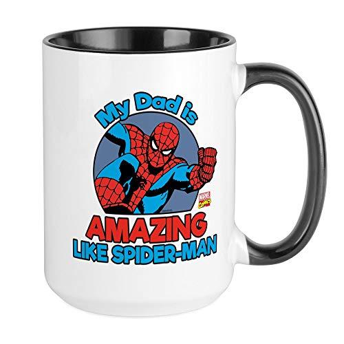 CafePress My Dad Is Amazing Like Spider Man Large Mug Coffee Mug, Large 15 oz. White Coffee Cup
