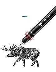 Bolígrafo 3D, versión clásica El bolígrafo 3D soporta filamentos de PLA y ABS con velocidad y temperatura ajustables, diseño de obstrucciones no tóxicos, (negro)