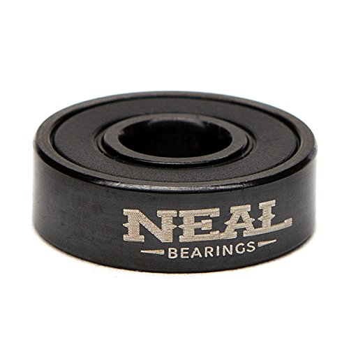 Neal Precision Ceramic Skate Bearings 608rs - Skateboard - Longboard - Inline - Scooter. The Best Bearings Guaranteed. (Black/Ceramic, 8 Pcs) by Neal Bearings (Image #3)