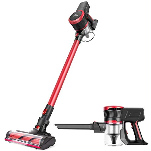 MOOSOO Cordless Vacuum Cleaner 18Kpa Strong Suction 2 in 1 Stick Vacuum Ultra-Quiet Handheld Vacuum with Brushless Motor